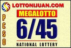 6/45 Megalotto Results
