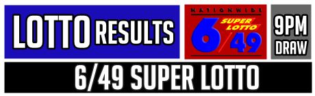 6/49 Superlotto Result