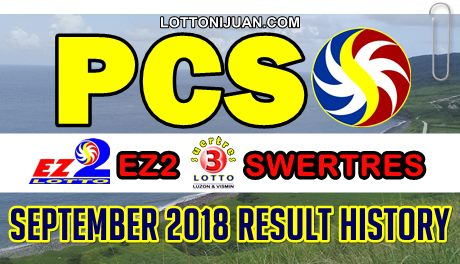 Swertres EZ2 September 2018 Results History