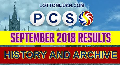 PCSO Lotto Results History for September 2018 - Lotto Ni Juan